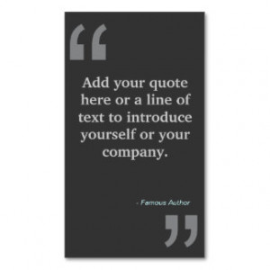 Funny Quote Business Cards, 198 Funny Quote Business Card Templates