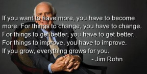 The KEY for a Better Life Jim Rohn Quote for Success