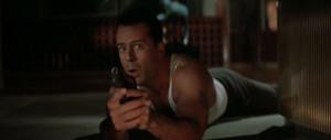Photo of Bruce Willis, portraying John McClane in
