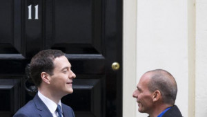 ... George Osborne for talks at No 11 Downing Street in London, on