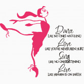 Dance Quote with Ballerina.