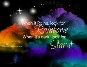 Rainbows sayings