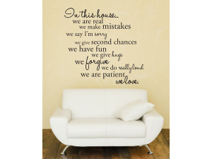 home wall stickers house rules wall sticker in this house wall ...