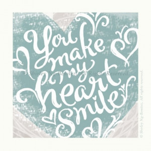 You Make My Heart Smile by smileshop on Etsy