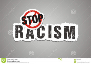 Stop racism poster, beckdrop, banner, suitable for protest poster.
