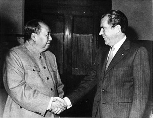 Mao Zedong, leader of Communist China, and President Richard Nixon ...
