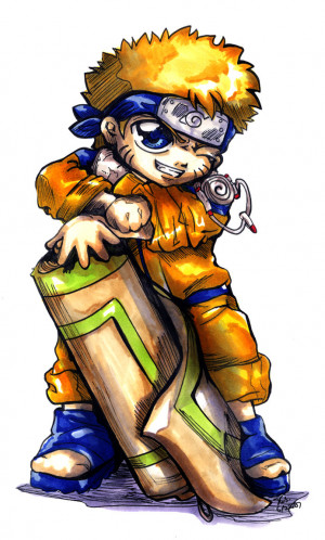 Sticker Naruto Chibi Bastett