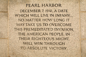 FDR Pearl Harbor Quote