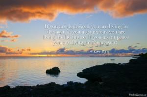 Lao Tzu Quotes – Living in the present | Image