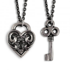 Antique Heart Lock and Key
