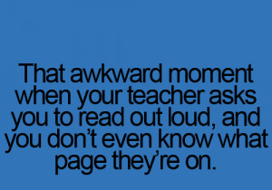 Teacher Awkward moment – Funny Quotes