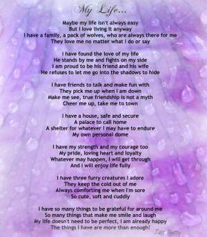 "Encouraging Life Poem – ""My Life"""