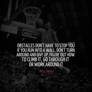 michael jordan obstacles