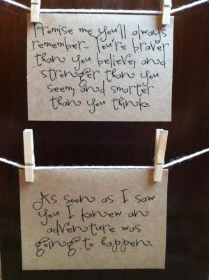 winnie the pooh quote cards set. kraft. love. happy. adventure ...