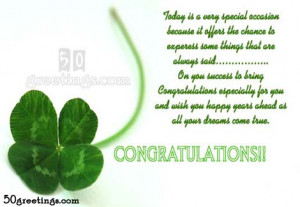 May you reap the fruits of success, today and always. Congratulations.