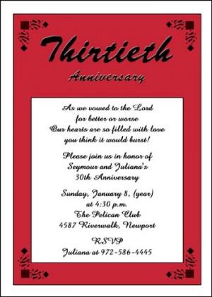 30th Anniversary Invitation areBecoming Very Popular