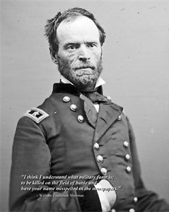... New 8x10 Civil War Photo: William Tecumseh Sherman with Famous Quote
