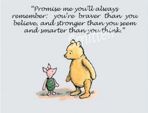Winnie The Pooh Goodbye Quotes | Winne the Pooh and Piglet Quote 4x6 ...