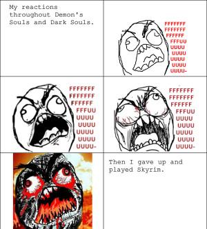 demon s souls dark souls rage