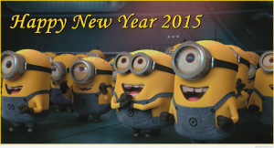Minions Happy new year 2015 funny message with picture