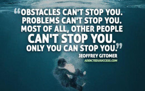 Obstacles Picture Quote