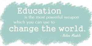 Education Quotes Nelson Mandela...