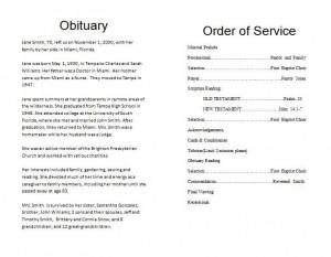 Outline | How to Make a Memorial Program Template « Funeral Memorial ...