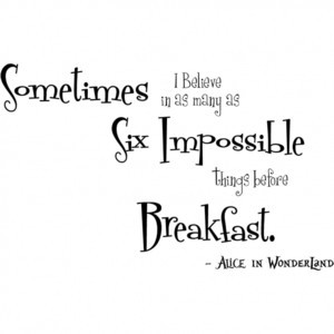 Alice in Wonderland Wall Lettering Quotes
