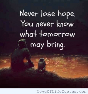 related posts don t lose hope never lose hope never lose hope love ...