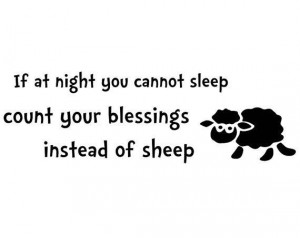 ... count your blessings instead of sheep wall decal quote words sticker