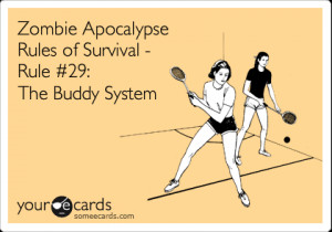 Funny Zombie Survival Sheet
