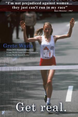 ... Running Poster Print - Motivational Women in Sports - Running Past 20
