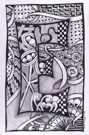 Letter M Zentangle Patterns