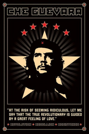 Che Guevara Revolutionary Communist Pop Art Quote Poster