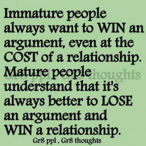Immature ppl vs. Mature ppl