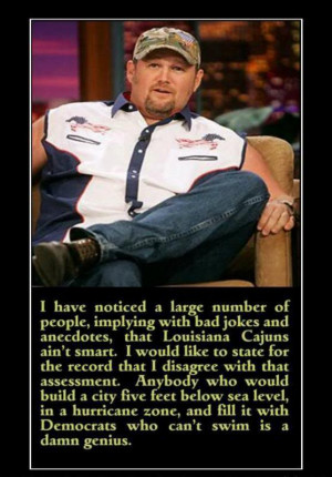Larry The Cable Guy - Louisiana Cajuns