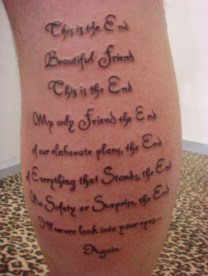 Tattoo Ideas: Quotes and Lyrics about Pain