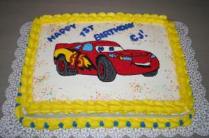 Lightning McQueen Cake Image