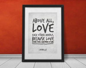 Christian Marriage Love Quotes Love each other deeply,