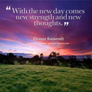 New Day Inspirational Quote