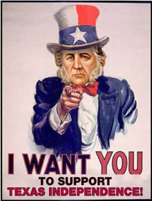 Secession group's poster features Sam Houston