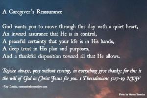 Caregiver's Reassurance - Roy Lessin 2-5-14