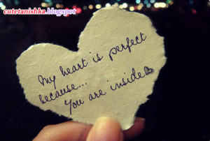 My Heart is Perfect | So Cute Love Quote Wallpaper For Facebook