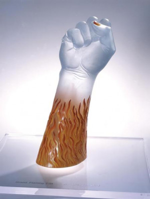 Judy Chicago Grand Flaming Fist 2006