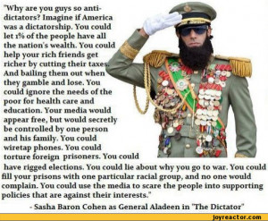 ... democrasy in USA. / movie :: dictator :: sasha baron cohen :: quote
