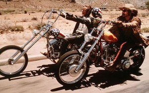 Dennis Hopper and Peter Fonda in Easy Rider Photo: ALAMY