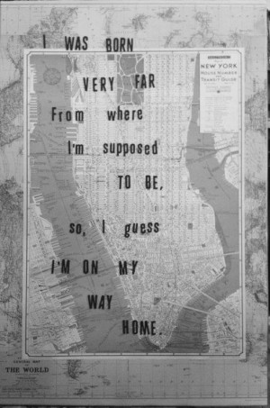 Far away from home.