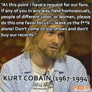 Feminism images Kurt Cobain quote HD wallpaper and ...  |Nirvana Feminism