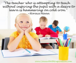 Teacher Quotes, teaching without inspiration
