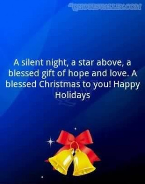 silent night a star above a blessed gift of hope and love